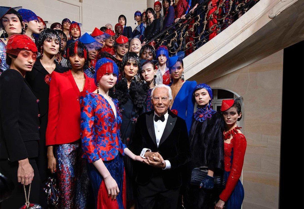 Moda: Armani, la sfilata a porte chiusa trasmessa in tv