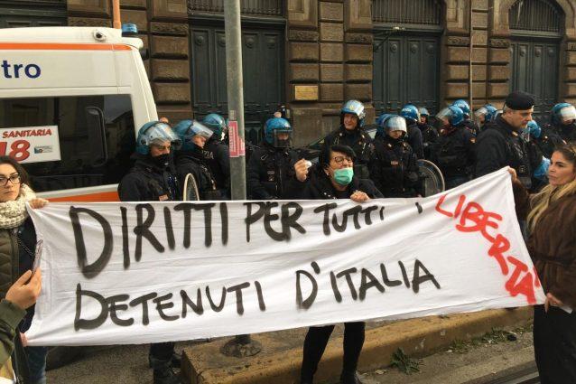 CORONAVIRUS: PROTESTA DETENUTI IN CARCERE POGGIOREALE NAPOLI