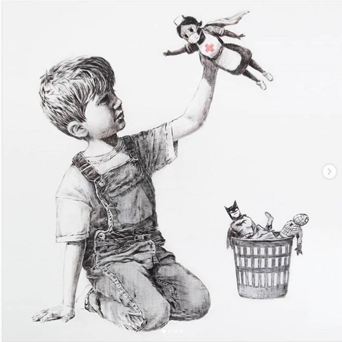 Una nuova opera d'arte di Banksy è apparsa al Southampton General Hospital
