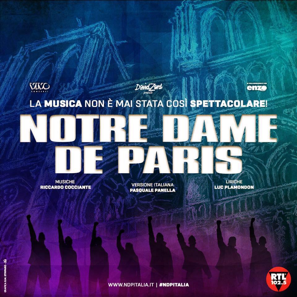 """""""NOTRE DAME DE PARIS"""", LA TOURNÉE SI POSTICIPA AL 2021"""