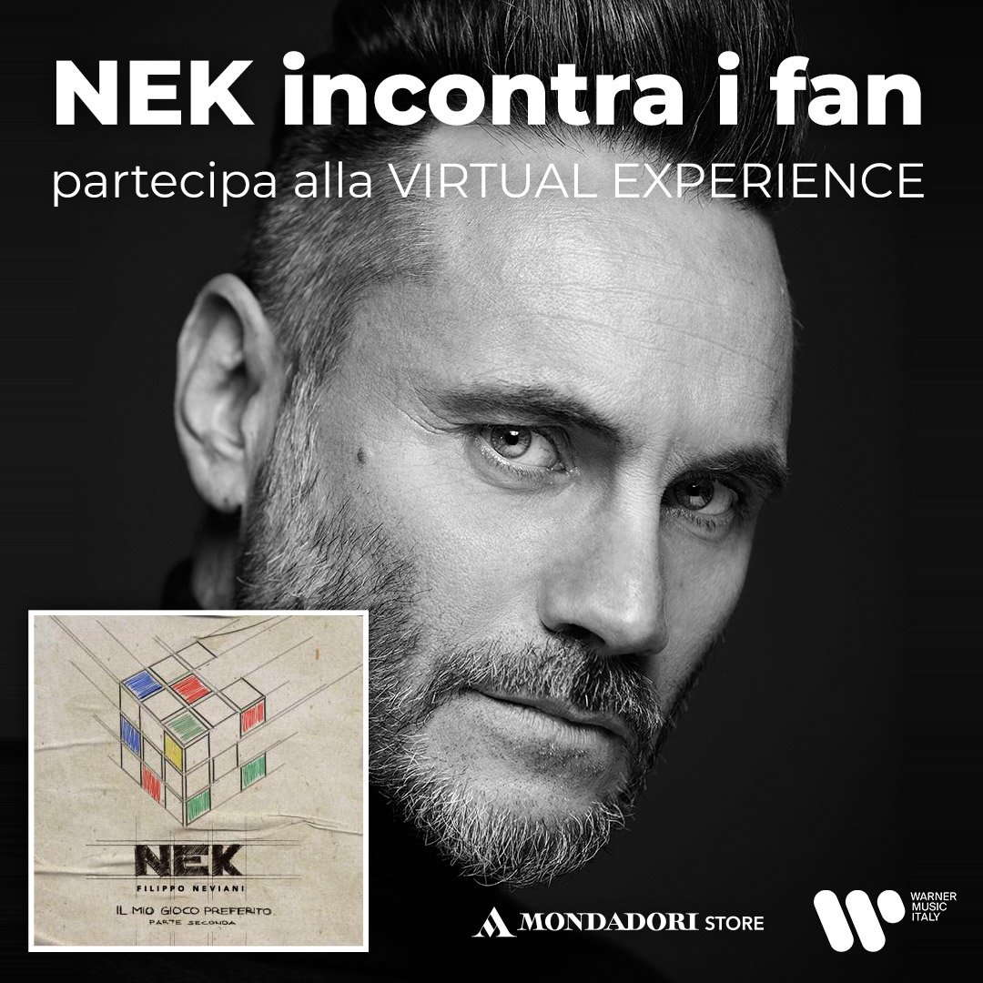 Nek incontra i fan: come partecipare alla virtual experience