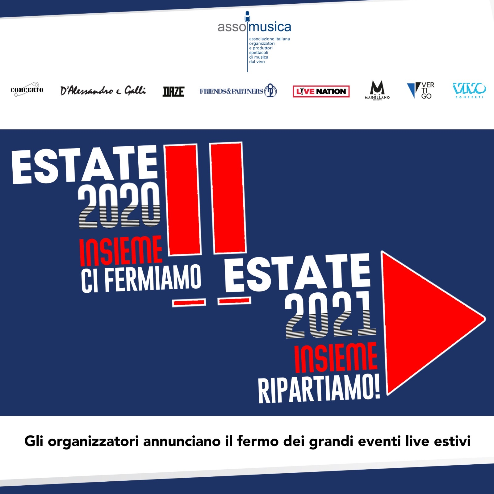 Estate 2020: i grandi eventi live si fermano