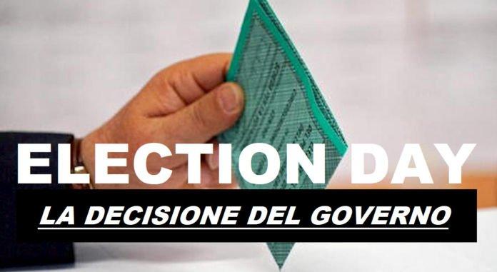 Election day, il governo punta al 20 settembre
