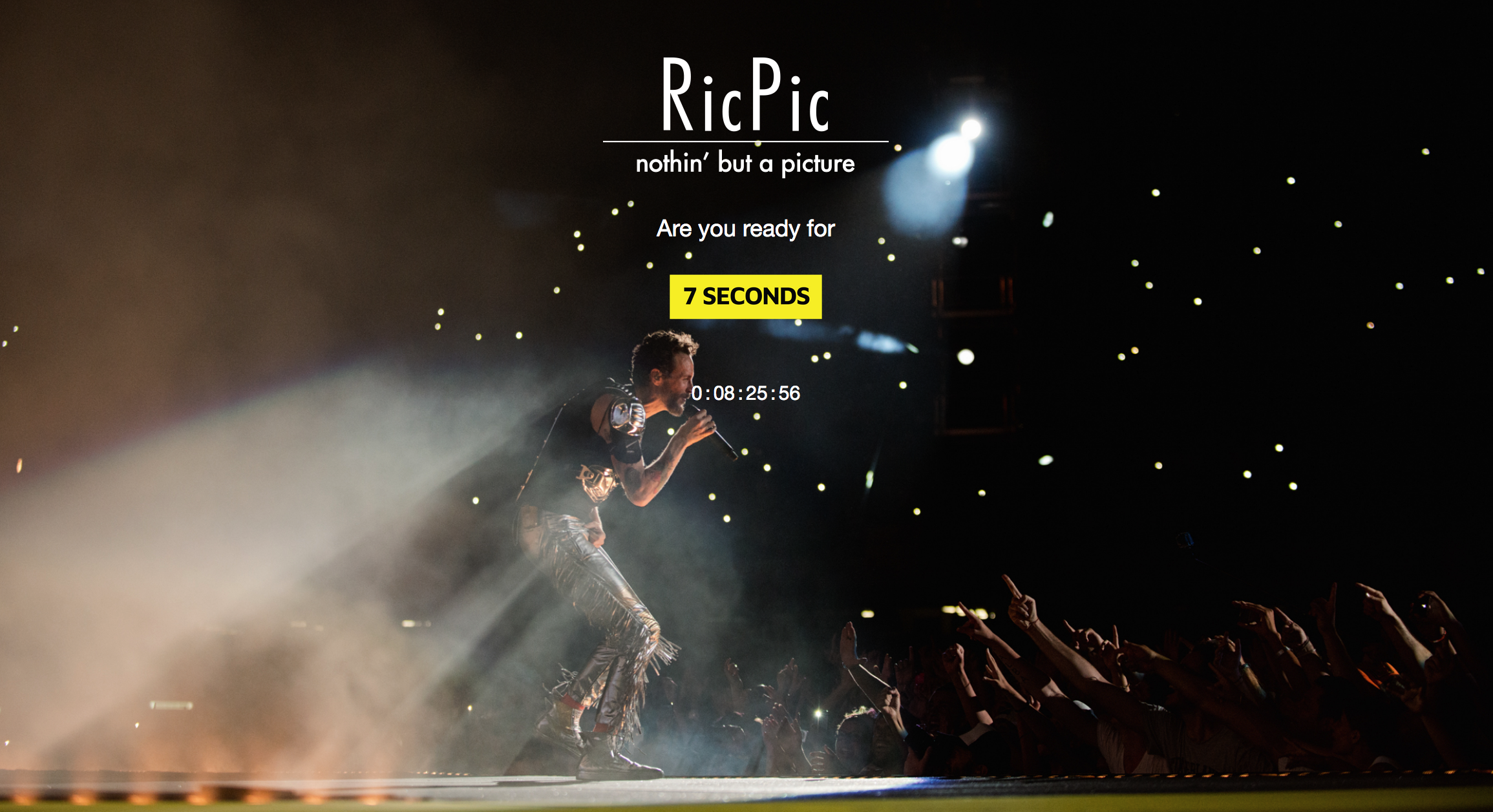 """WWW.7SECONDS.IT"", L'OPERA WEB DEL FOTOGRAFO RICPIC PER I 10 ANNI DI CARRIERA"