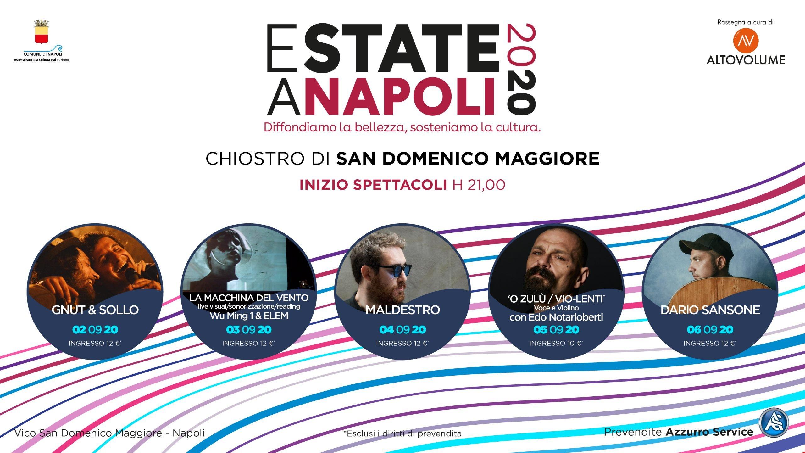 """""""Estate a Napoli"""" rassegna di concerti al chiostro di San Domenico Maggiore"""