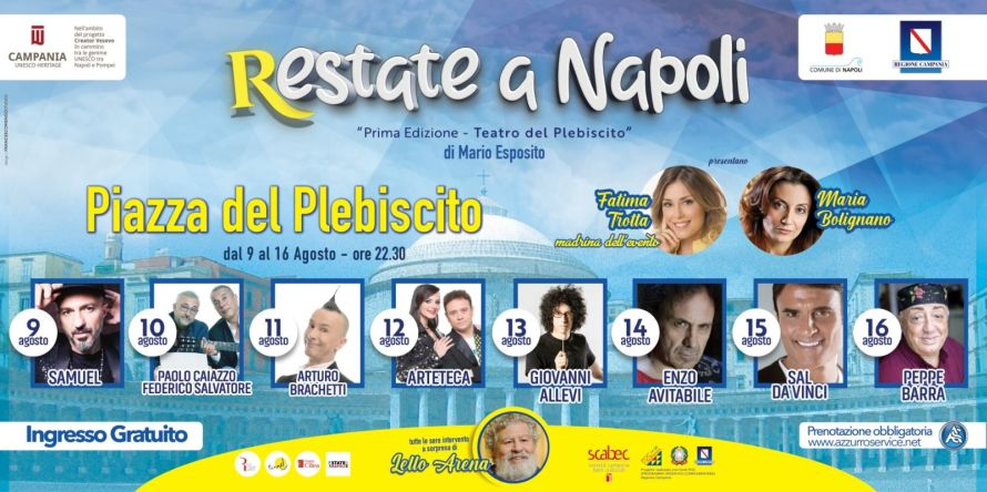 """Estate: domenica prossima parte """"R-estate a Napoli"""""""