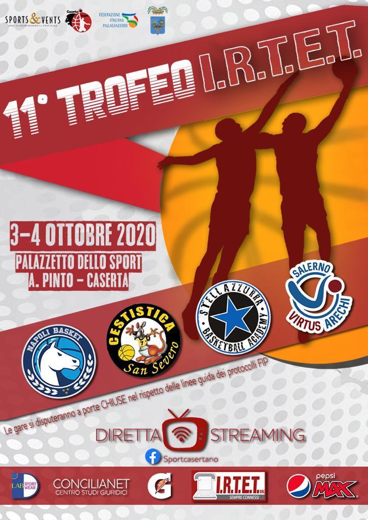 Basket: GeVi Napoli, il 3 e 4 ottobre c'è il trofeo Irtet