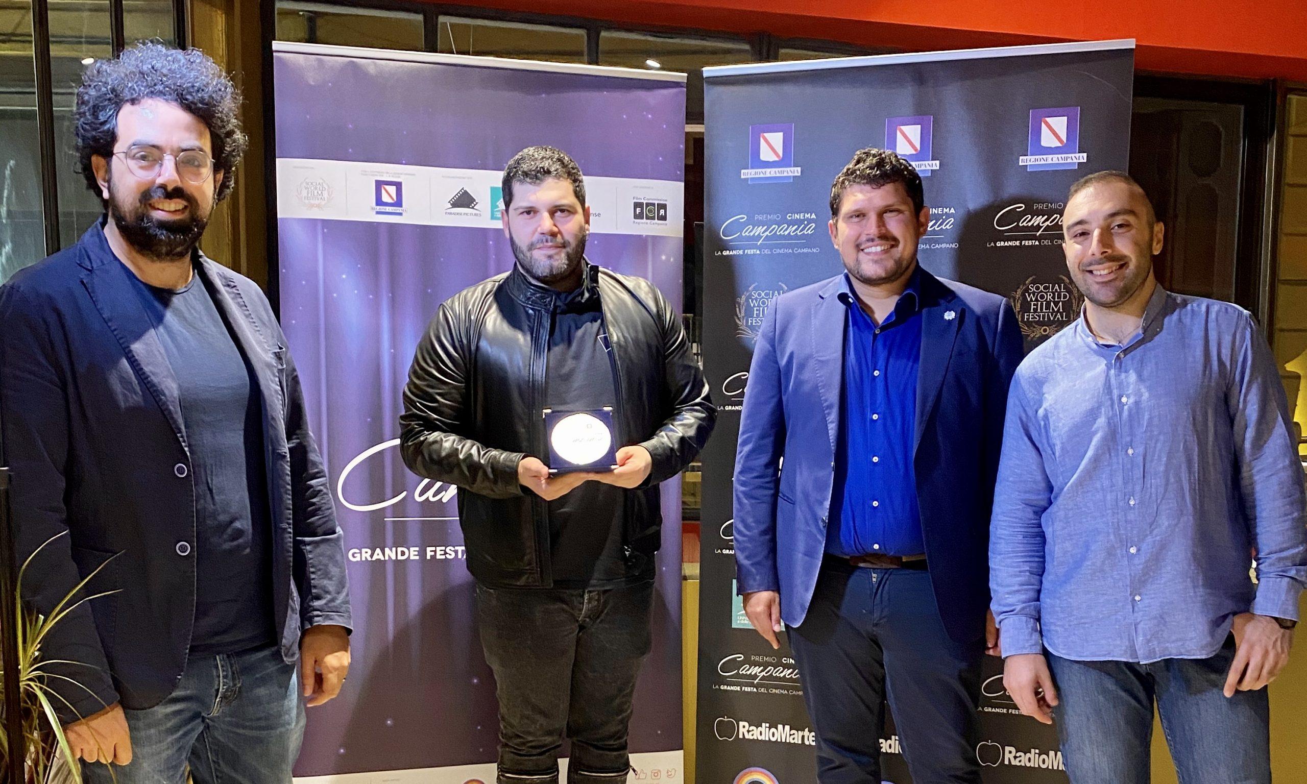Consegnato a Salvatore Esposito il Premio Cinema Campania 2020