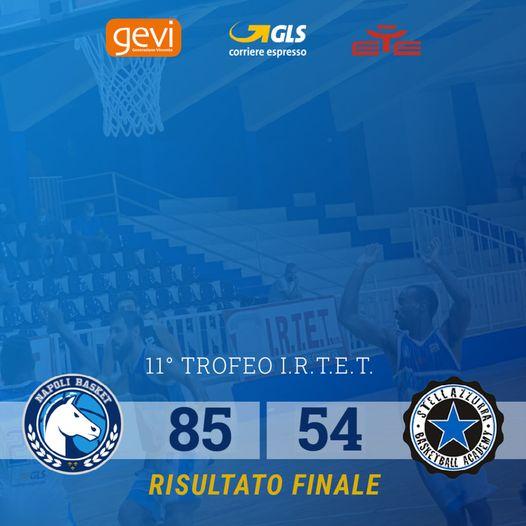 GeVi Napoli, battuta la Stella Azzurra 85-54. Domani la finale del trofeo Irtet