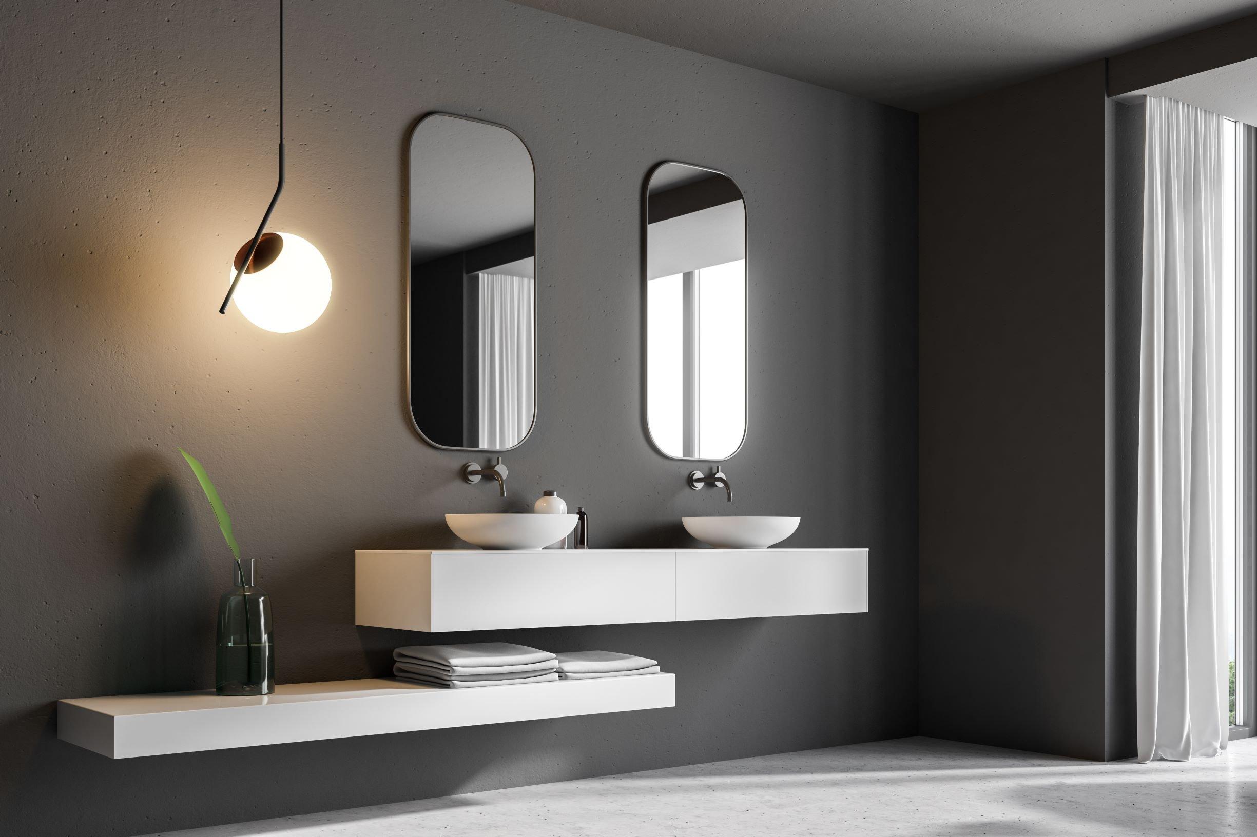 Bagno con lavabo singolo e doppio, soluzioni per non litigare