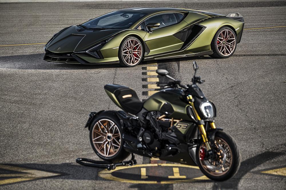 Lamborghini, con Ducati per una moto ispirata alla Sián FKP 37