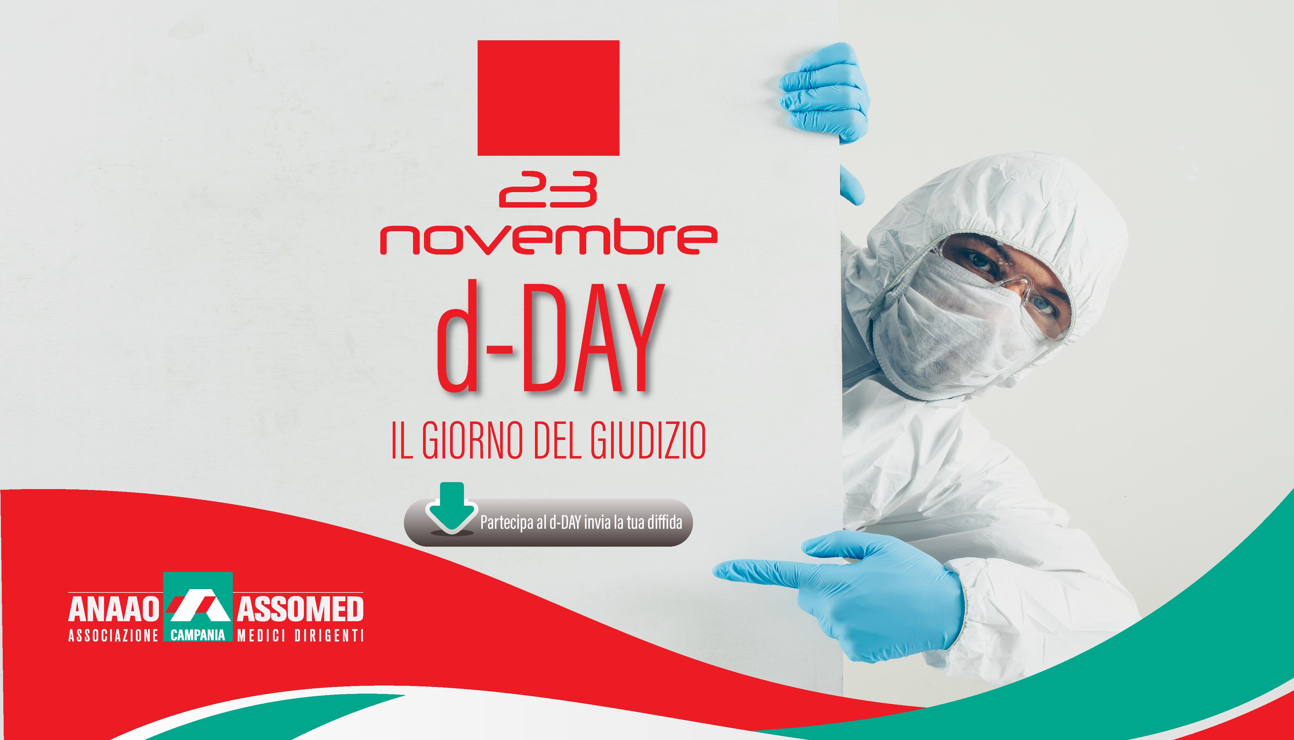 """Anaao Assomed Campania, lancia il """"d-DAY"""" una protesta per una sanità in ginocchio"""