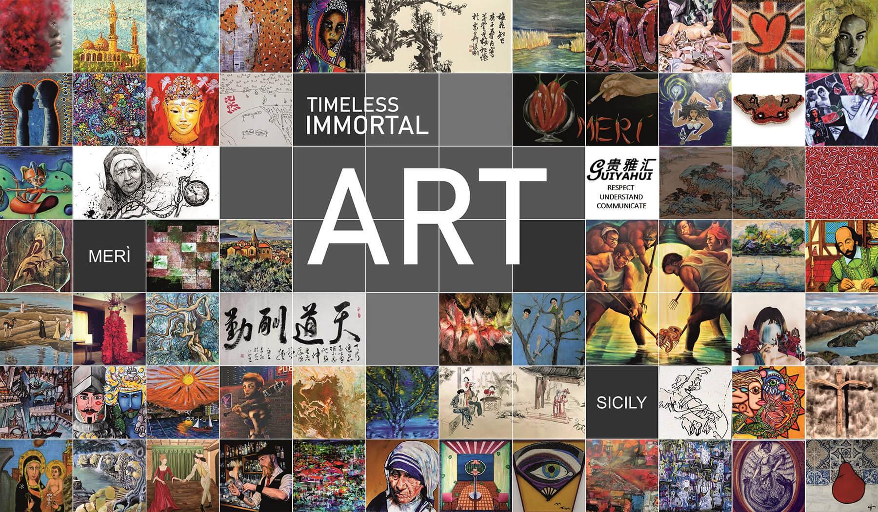 TIMELESS IMMORTAL ART:  Il dono dell'immortalità a 60 artisti provenienti da tutto il mondo.