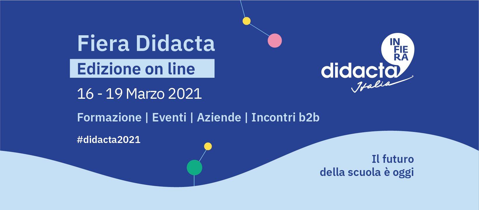 Scuola: Didacta 2021, dal 16 al 19 marzo nuova edizione online della Fiera
