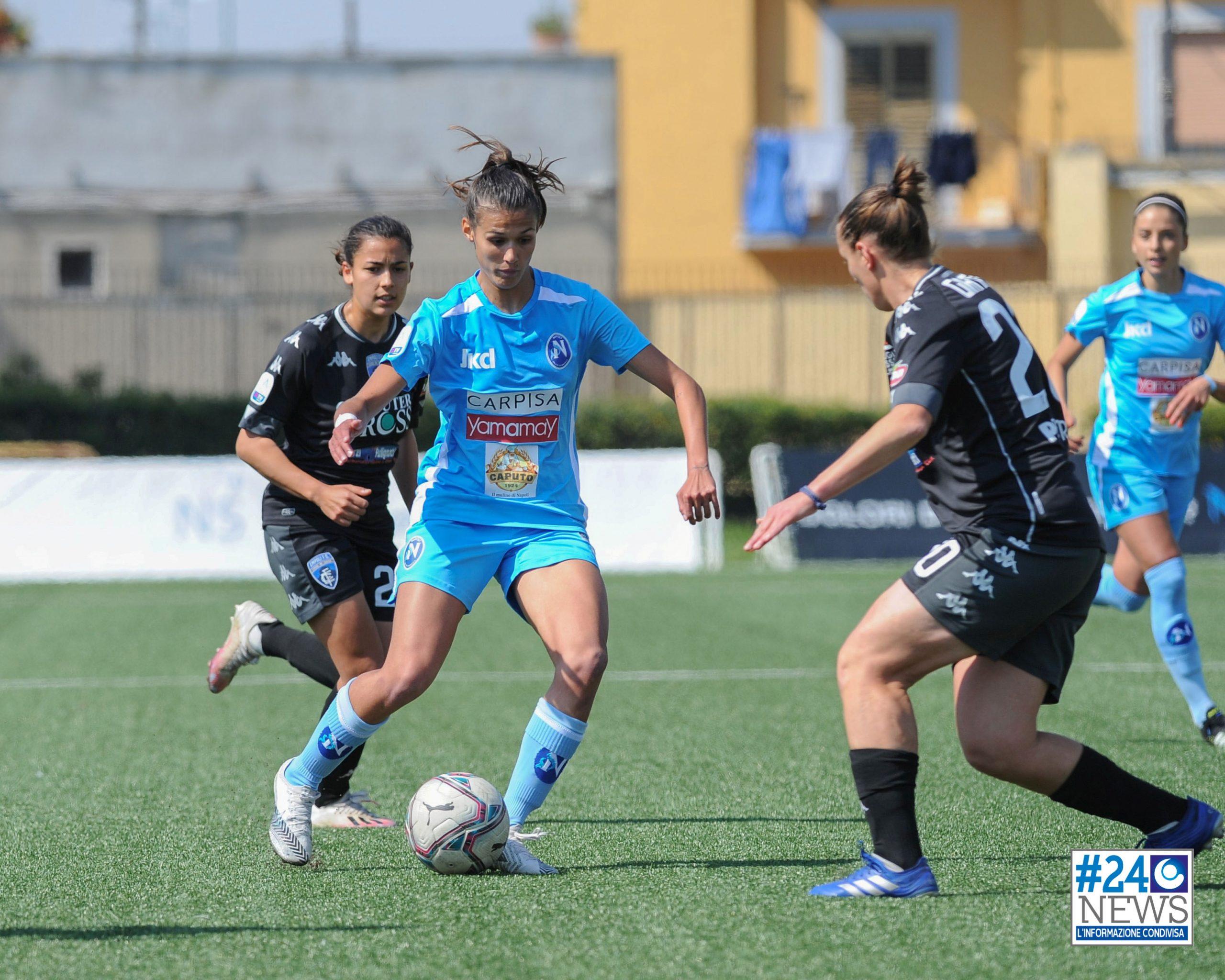 NAPOLI-EMPOLI 3-3. Le azzurre agganciano il San Marino al terzultimo posto