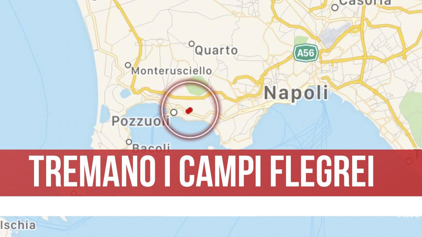 Terremoto: Napoli, scossa di magnitudo 2.0 nei Campi Flegrei